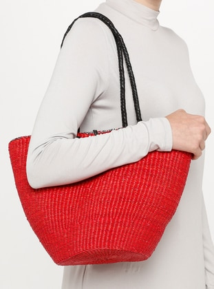 Red - Black -  - Shoulder Bags