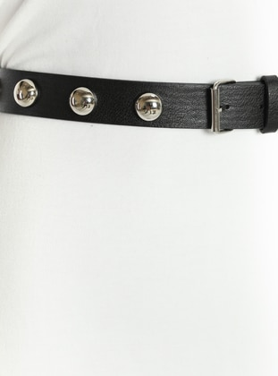 Metallic - Black - Belt