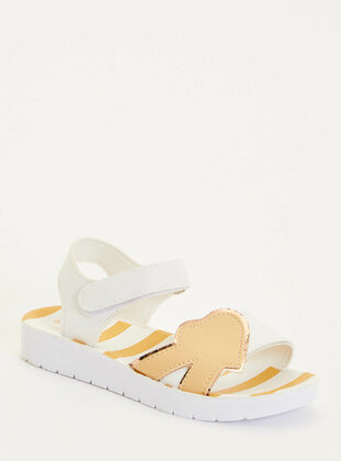 White - Girls` Sandals