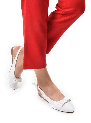 White - Flat - Sandal