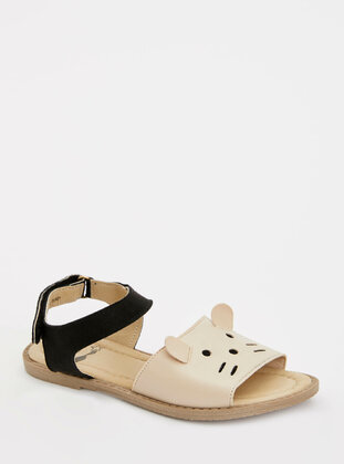 Beige - Girls` Sandals