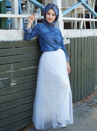 Ecru - Fully Lined - Skirt