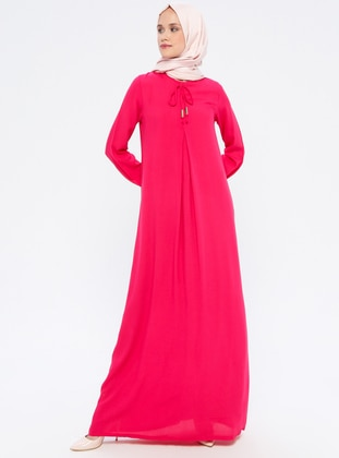 Pink - Fuchsia - Unlined - Viscose - Dress