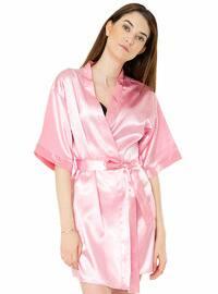 Pink - Silver tone - Morning Robe