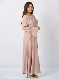 Powder - Fully Lined - Crew neck - Plus Size Dress