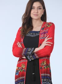 Coral - Floral - Sweatheart Neckline - Fully Lined - Plus Size Suit