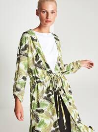 Green - Multi - Shawl Collar - Cardigan