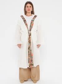 Ecru - Unlined - Plus Size Abaya