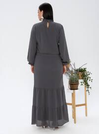 Smoke - Fully Lined - Crew neck - Plus Size Dress