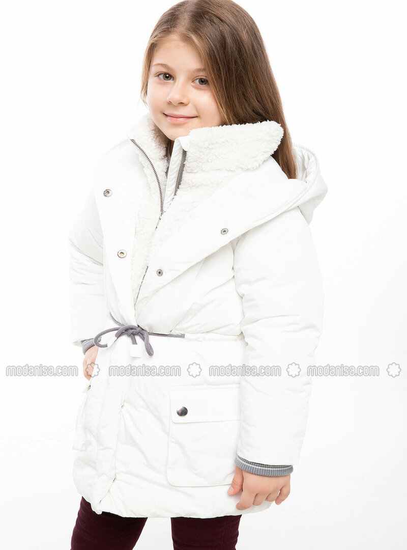 White - Girls` Jacket
