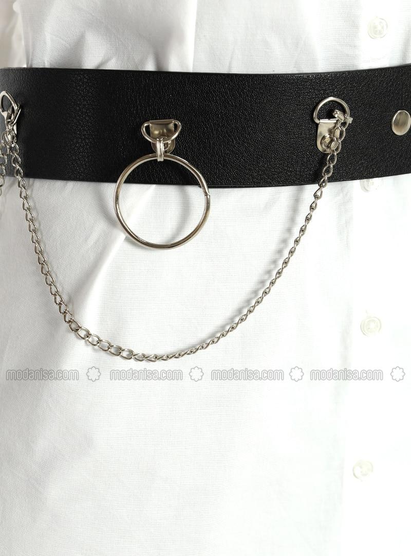 Metallic - Black - Belt