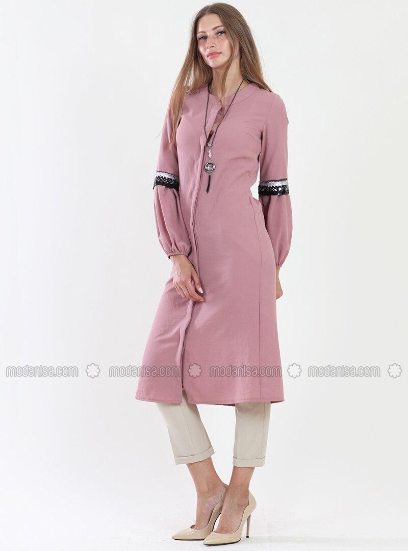 Pink - Polo neck - Tunic