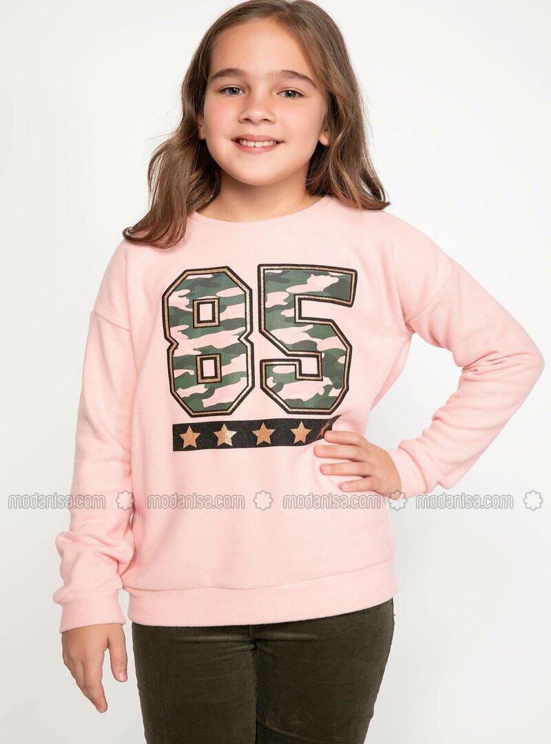 Pink - Girls` Sweatshirt