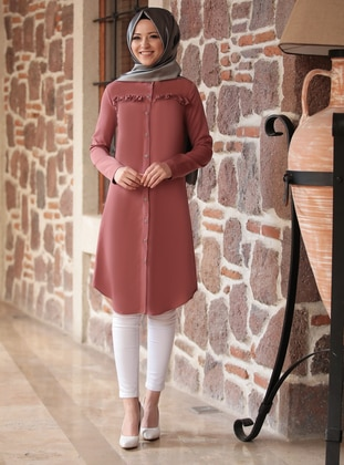 Terra Cotta - Crew neck - Tunic - DressLife