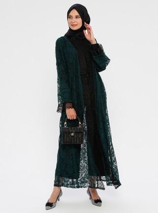 Green - Emerald - Unlined - Abaya