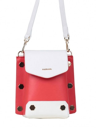 White - Coral - Shoulder Bags