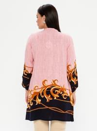Pink - Multi - Crew neck - Viscose - Plus Size Tunic