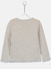 Printed - Crew neck - Gray - Girls` Pullovers