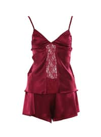 Maroon - Short Set