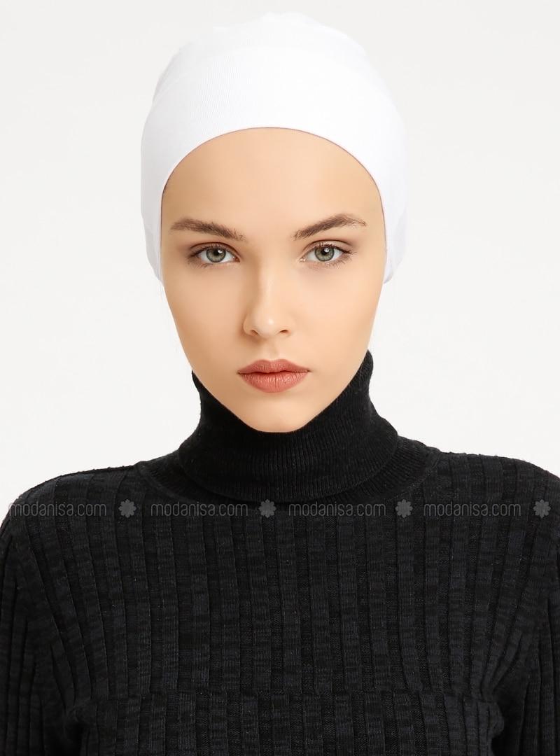 Combed Cotton - Lace up - Non-slip undercap - White - Bonnet - Bone