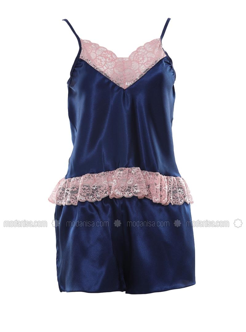 Blue - Navy Blue - Short Set