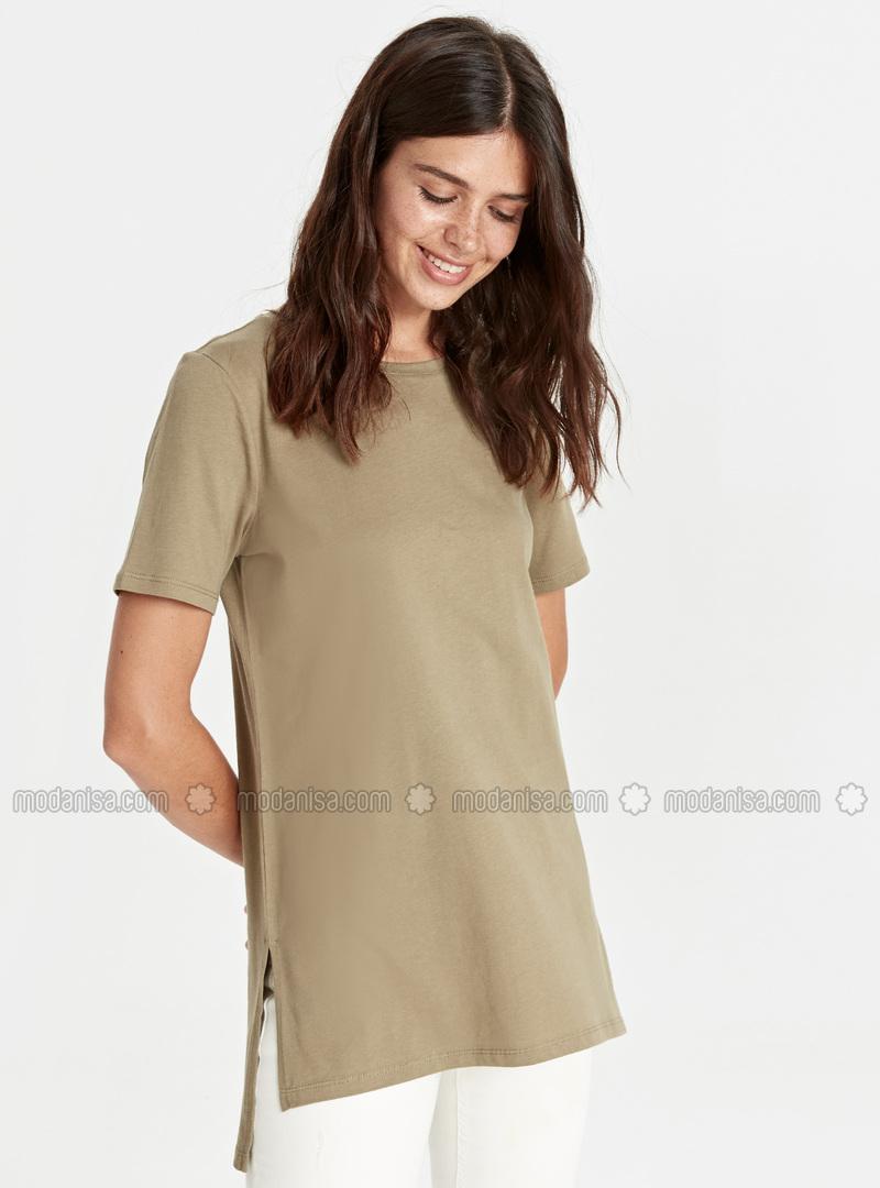 Crew neck - Khaki - T-Shirt