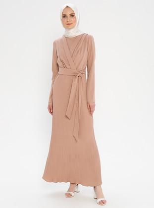 Dusty Rose - Crew neck - Unlined - Dress