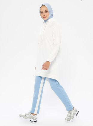 Blue - Cotton - Tracksuit Bottom