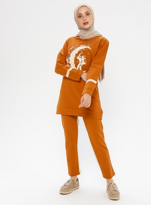 Tan - Cotton - Tracksuit Set