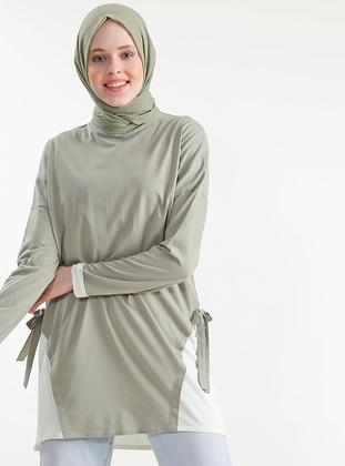 Green - Cotton - Modal - Tunic