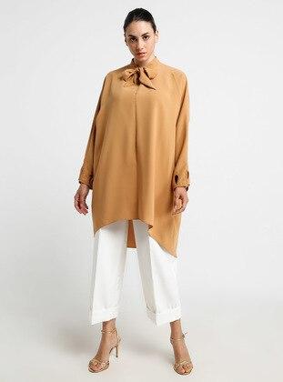Camel - Polo neck - Tunic