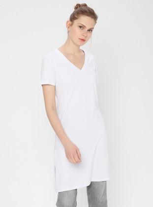 White - Ecru - T-Shirt