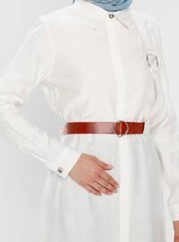 White - Ecru - Point Collar - Tunic