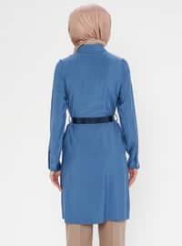 Indigo - Blue - Point Collar - Tunic