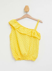 Yellow - Girls` Blouse