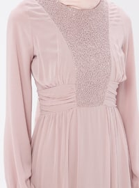 Powder - Round Collar - Fully Lined - Dress