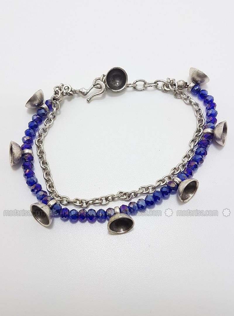 Blue - Silver tone - Bracelet