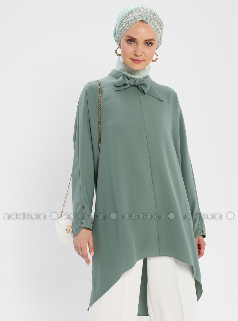 Green Almond - Polo neck - Tunic