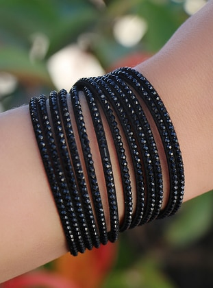 Black - Bracelet - Takıştır Bijuteri