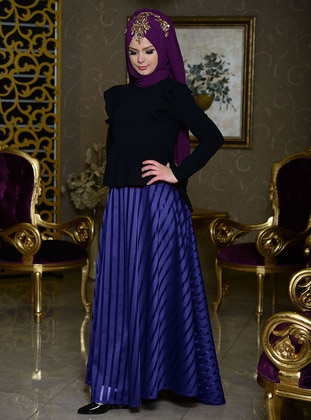Saxe - Stripe - Fully Lined - Skirt
