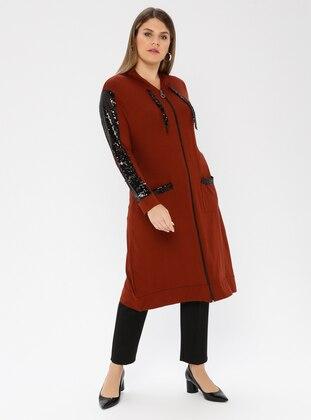 Terra Cotta - Viscose - Plus Size Tunic