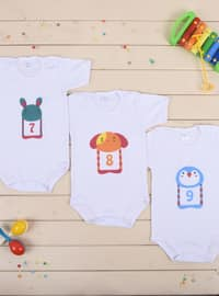 Multi - Crew neck - White - Multi - Baby Suit