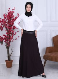 Plum - Fully Lined - Skirt