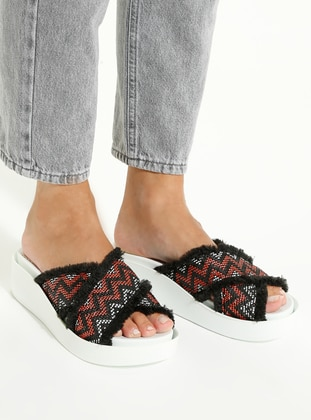 White - Red - Sandal - Slippers