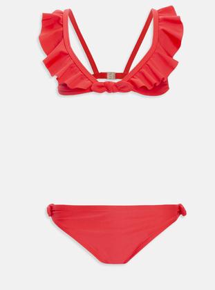Red - Girls` Swimsuit - LC WAIKIKI