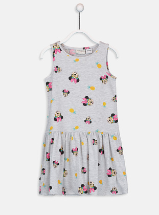 Printed - Ecru - Girls` Dress
