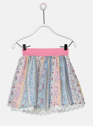Printed - Ecru - Girls` Skirt - LC WAIKIKI