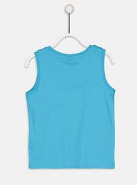 Crew neck - Turquoise - Boys` T-Shirt