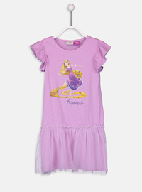 Printed - Lilac - Girls` Dress