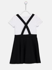 Printed - Black - Girls` Dress